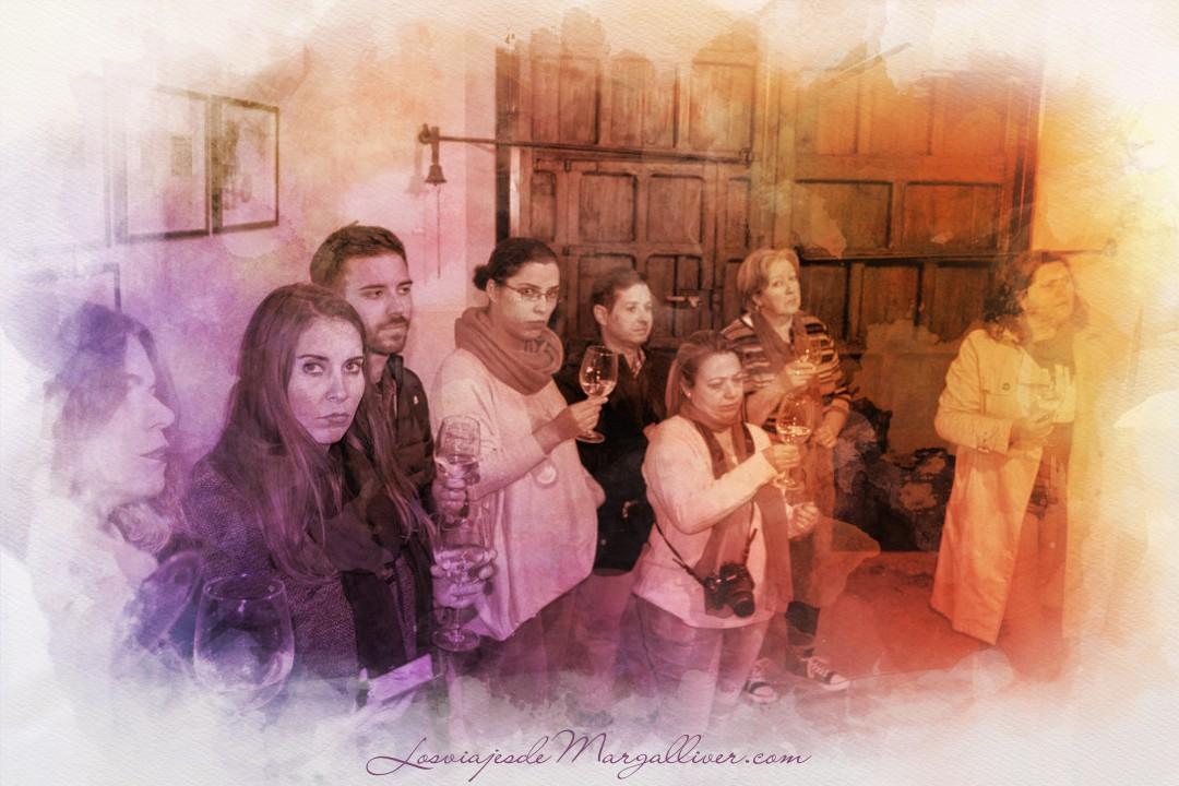 cata en la bodega Alfolí en Eliossana- Los viajes de Margalliver